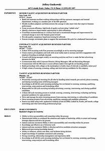 Coordinator Resume Examples Talent Acquisition Business Partner Resume Samples
