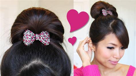 For Hair by 1 Minute Fan Bun Updo Hairstyle Hair Tutorial