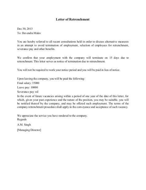 retrenchment letter template south africa