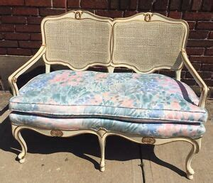 ebay settees vintage provincial shabby chic caned sofa
