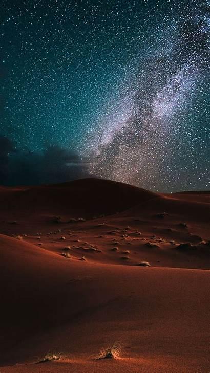 Desert Night Qhd Milky Sky Way Dunes