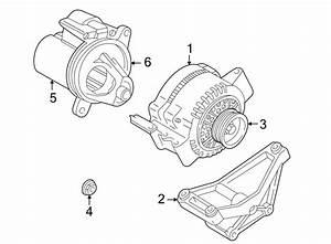 Ford Ranger Bracket  Compressor  Alternator  1998