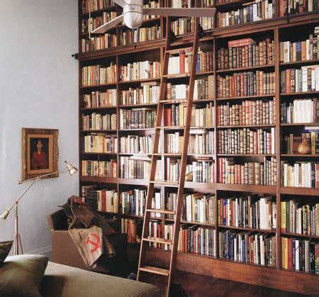 bookshelf ladder design home library design library