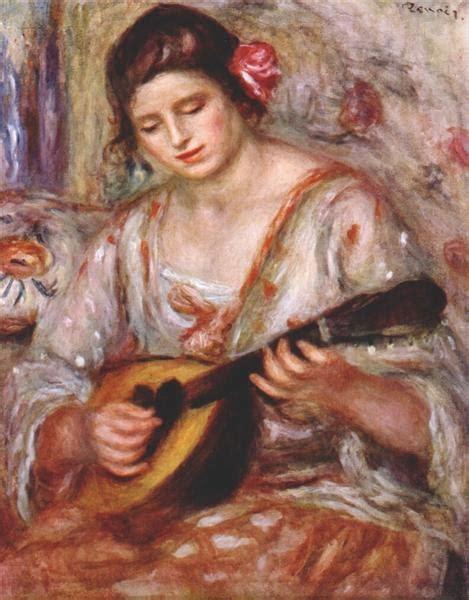 Girl With A Mandolin 1918 Pierre Auguste Renoir