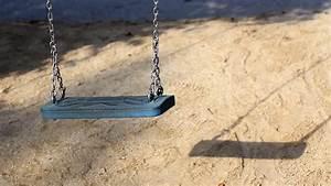 Empty Swing Set At Children39s Playground On The Beach