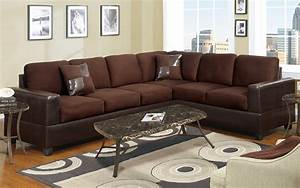 2 piece sectional sofa w accent pillows microfiber With brown 2 piece sectional sofa