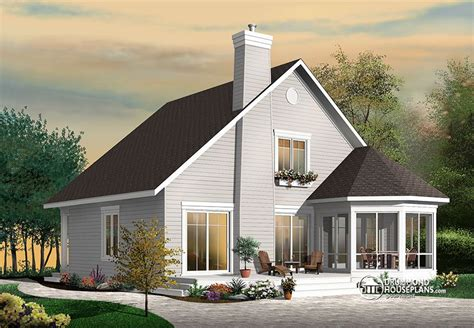 Stunning A-frame 4 Bedroom Cottage House Plan