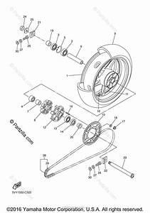 Yamaha Motorcycle 2006 Oem Parts Diagram For Rear Wheel