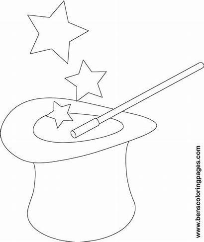 Coloring Magician Hat Magic Handout Below Please