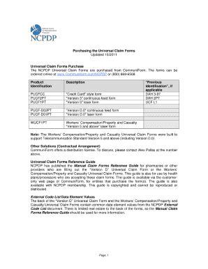 ncpdp universal claim form