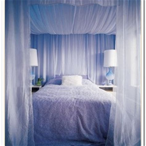diy canopy bed with curtain rods curtain curtain image