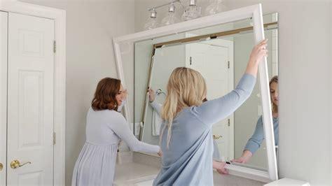 mirror frame kits mirror frame installation  easy