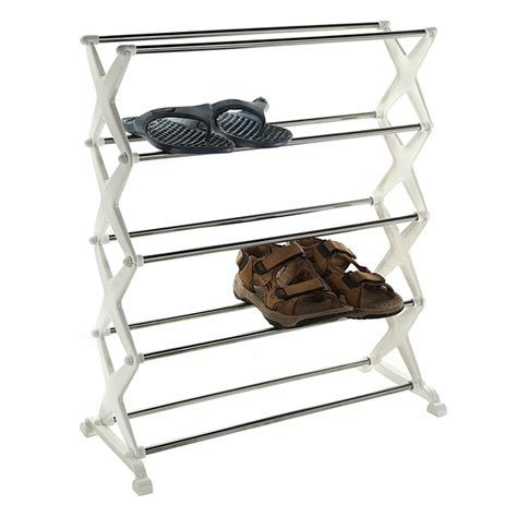 steel shoe rack 5 tier foldable stainless steel shoe rack shoes storage
