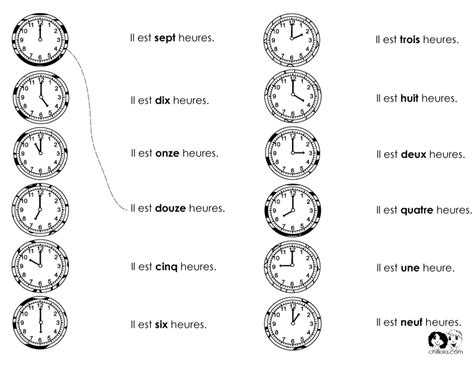 time worksheet new 901 time worksheets in french