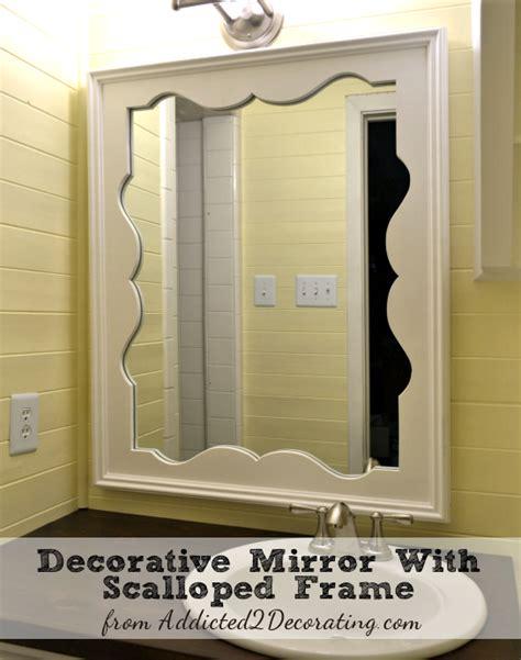 diy decorative mirror  scalloped frame decorative