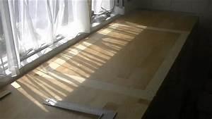 Holz Arbeitsplatte Küche : loch f r sp lbecken auss gen holz arbeitsplatte teil 1 youtube ~ A.2002-acura-tl-radio.info Haus und Dekorationen