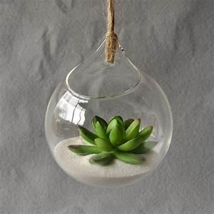 Vase Suspendu En Verre : pendaison vase en verre suspendu terrarium vase en verre hydroponique fleur planteur bureau ~ Teatrodelosmanantiales.com Idées de Décoration