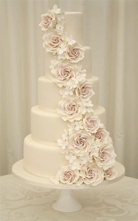 elegant  regal rose wedding cake cakes dessert