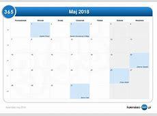 Kalendarz maj 2018