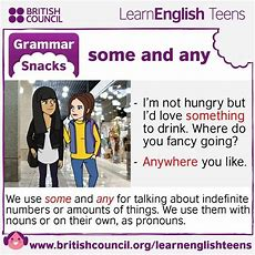 Grammar Snacks Some And Any #englishgrammar #learnenglish @english4matura  English Grammar And