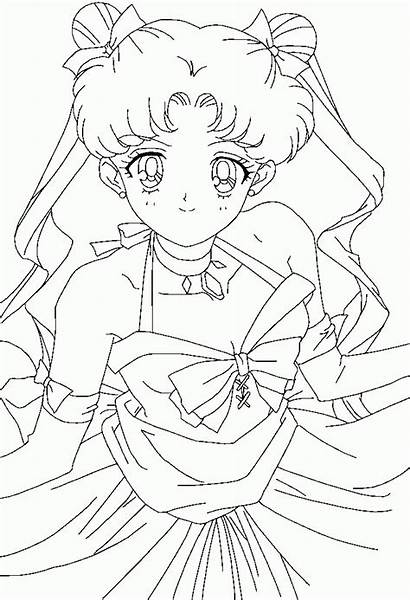 Coloring Pretty Printable Deviantart Sheets Moon Sailor
