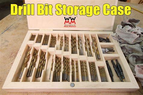 drill bit storage case woodworking  mere mortals