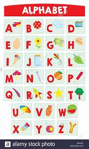 cartoon alphabet for kids education poster learning With poster alphabet letters