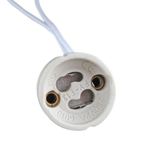 gu10 socket led bulb halogen l holder base ceramic wire