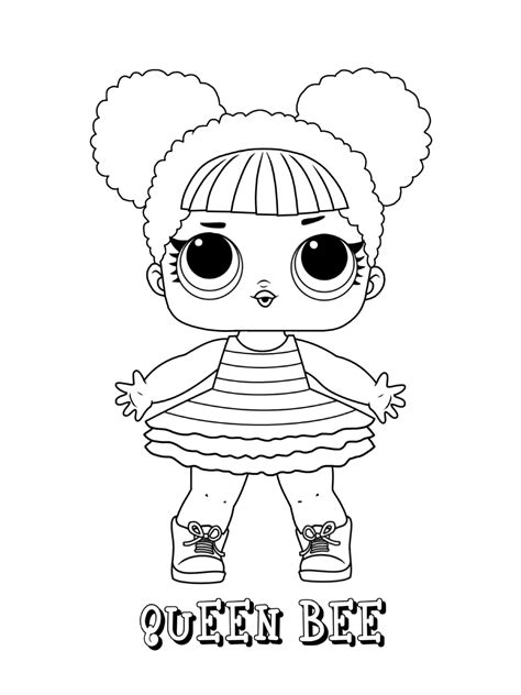 lol surprise dolls coloring pages  printable coloring page
