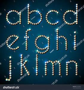 shiny diamond alphabet letters lower case version eps10 With shiny diamond alphabet letters