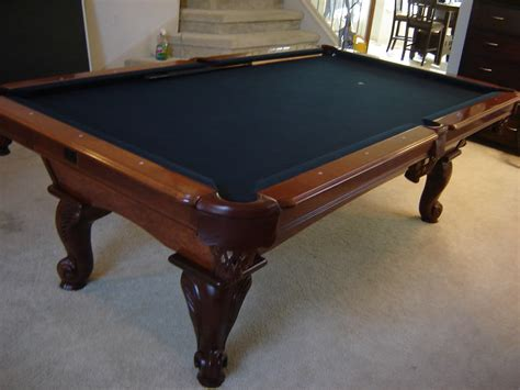 how many feet is a pool table how much is a kasson 8 foot pool table worth