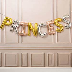 princess 16 inch balloon letters by bubblegum balloons With 16 balloon letters