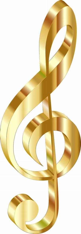 Gold Background 3d Clipart Clef Transparent Sign