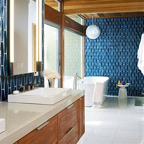 mid century bathroom tile 36 blue and white bathroom tile ideas and pictures