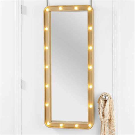 over the door mirror with lights design vignettes