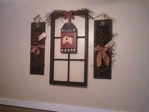 Old window frame shutters wall art home