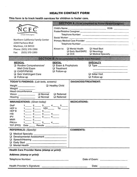 forms and applications northern california family center