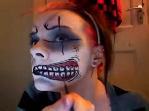 Scary Clown Face Paint