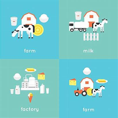 Factory Cheese Clip Milk Vector Plant Illustrations
