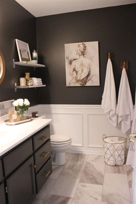 White Wainscoting Bathroom by One Room Challenge Fall 2015 My Favorite Spaces
