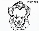 Pennywise Clown Coloring Pages Draw Printable Scary Sheets Halloween Adults Character Colouring Creepy Horror Clowns Coloringfolder Characters Children Read sketch template