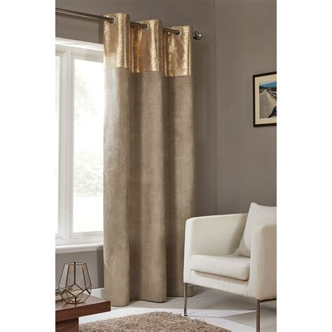 "Etched Metallic Faux Suede Panel 54 x 86""   Curtains   B&M"