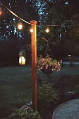 DIY Garden Posts for String Lights - Cedar & Stone Farmhouse