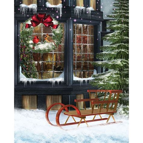 christmas sled printed backdrop backdrop express
