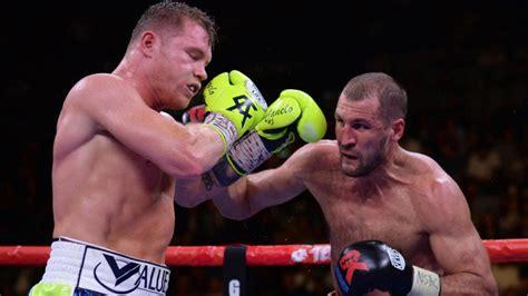 las  mejores fotos de la pelea entre canelo  kovalev