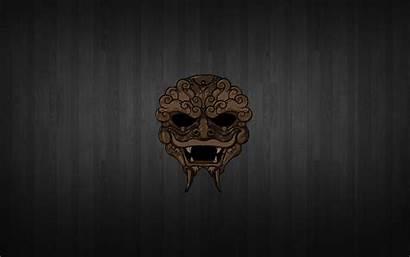 Mask Oni Wallpapers Brown Decor Wall Eyes