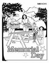 Coloring Picnic Memorial Template Funeral Printables Getdrawings sketch template