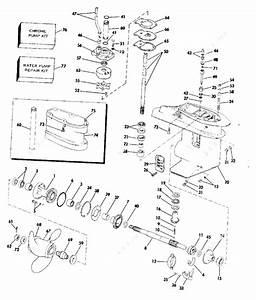 Johnson 1980 35 - J35rcsm  Gearcase 35