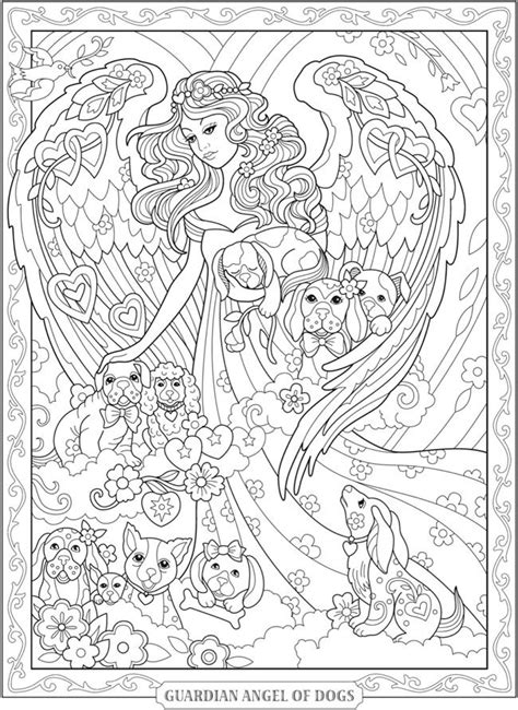 Welcome to Dover Publications   Angel coloring pages