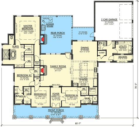Outdoor Living Floor Plans by Plan 56408sm 4 Bed Acadian With Generous Outdoor Living
